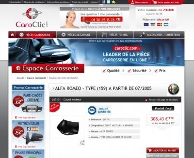 CAROCLIC est un site spécialisé dans la vente de pièces détachées automobiles