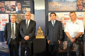 (De gauche à droite) Ruiz Tagle, Enrique Meyer, Juan Ramon Quintana, et Etienne Lavigne.