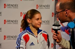 Interview Anne aux Internationaux de gym 2013