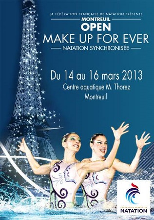 Open make up for ever, natation synchronisee montreuil