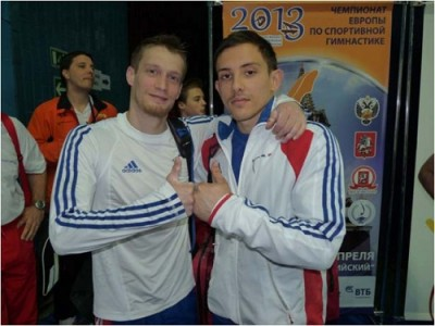 Guillaume Augugliaro et Arnaud Willig au Championnats d'Europe individuels de Gym Moscou Russie