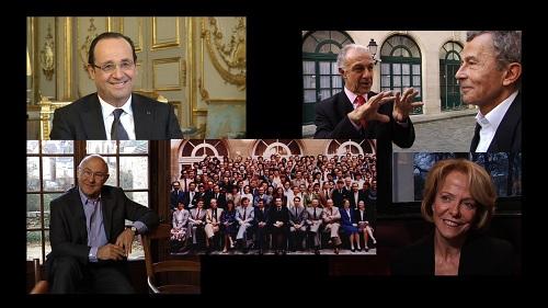 Promotion Voltaire : Hollande, Royal, de Villepin, Sapin, Jouyet