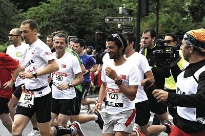 MCC aux 10km L'Equipe 2013. Kilian Jornet, Yann LE MOENNER