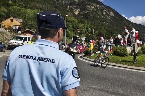 La gendarmerie sur le Tour de France