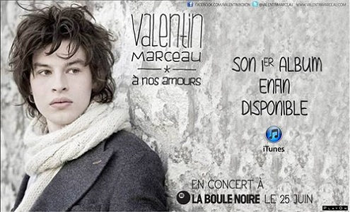 Premier album de Valentin Marceau
