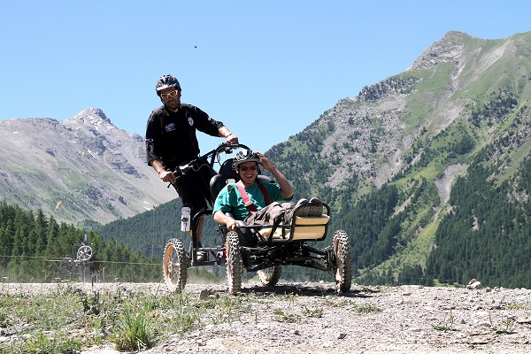 Le bike park accessible aux Orres.