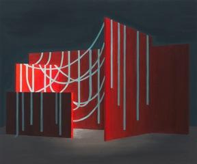 Série Nature morte d'espaces 5 - Peinture à l'huile sur bois
