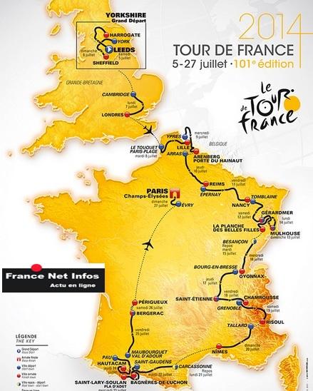 carte Tour de France 2014