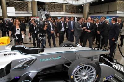 Sportel -F1 electrique -le Prince Albert