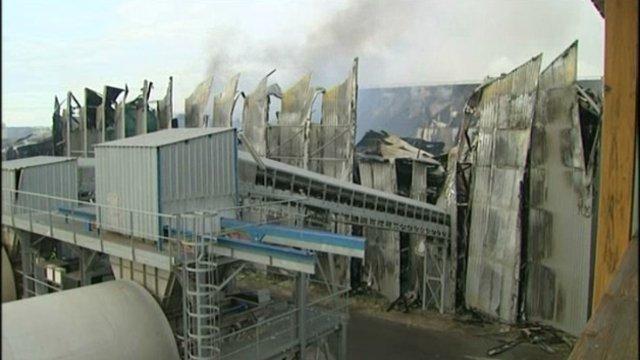 Les dégâts de l'incendie sont extrêmement importants.