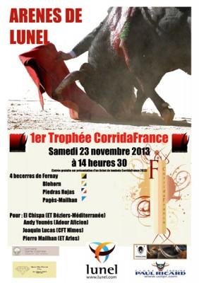 """Le collectif CorridaFrance organise le samedi 23 novembre 2013 à Lunel (34) son """"1er Trophée CorridaFrance"""""""