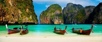 plage thailande barques