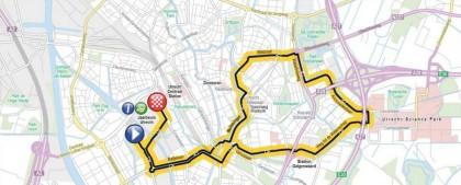 le parcours du prologue du Tour 2015 à Utrecht