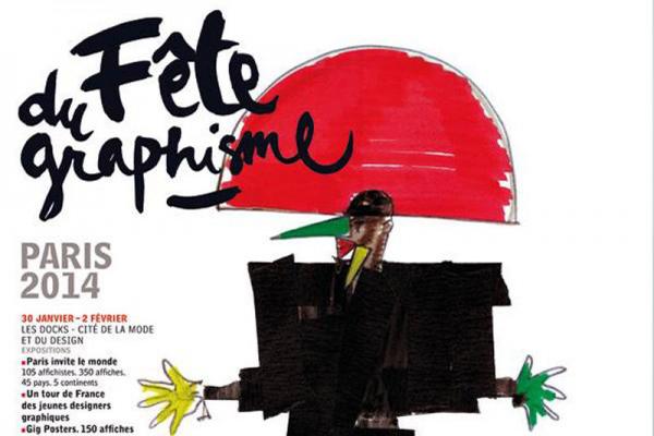 Affiche de Jean-Paul Goude pour la Fête du graphisme (détail)
