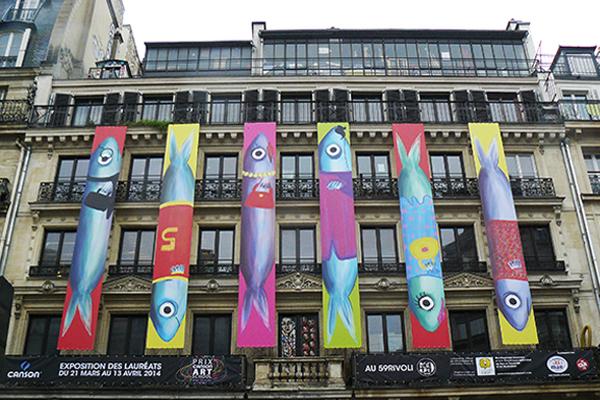 Clémentine Guivarch, Les Sardines, façade du 59Rivoli. Photo: Marika Prévosto