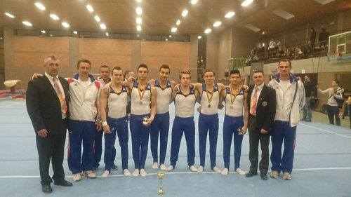 L'équipe de France junior à Gand. (Photo de gymnastique PaysdelaLoire)