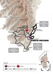 La dernière étape reliera Porto-Vecchio au col de l'Ospedale