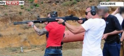 Oscar Pistorius à l'entrainement était un fan des armes