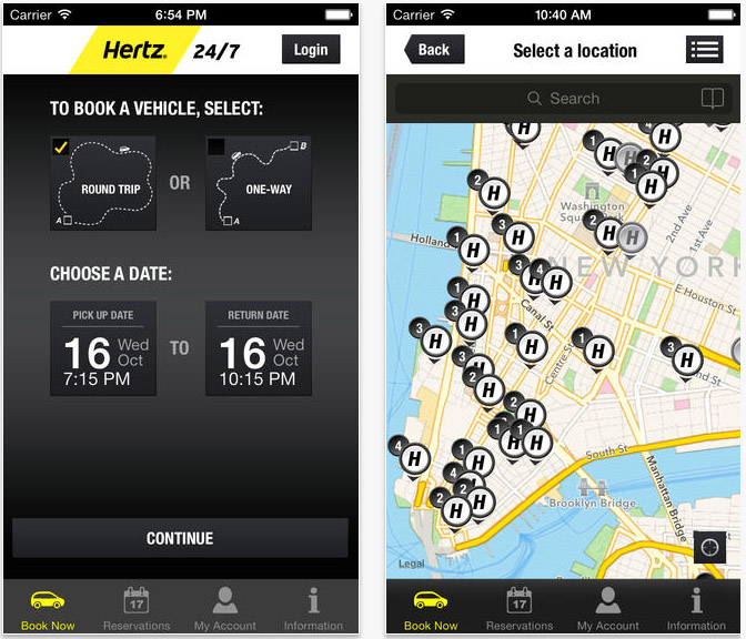 application Hertz 24-7