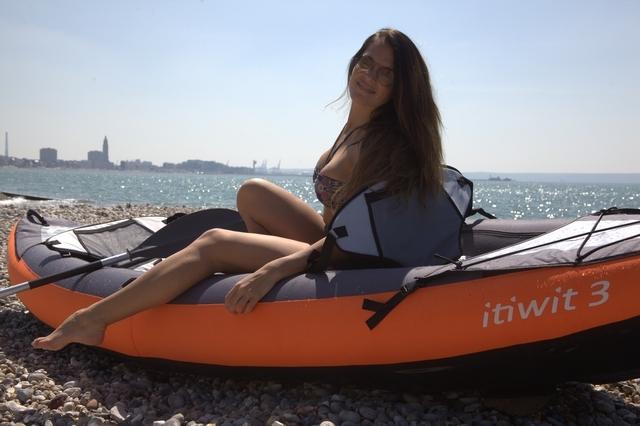 Test Kayak Gonflable Itiwit 3 Tribord Decathlon