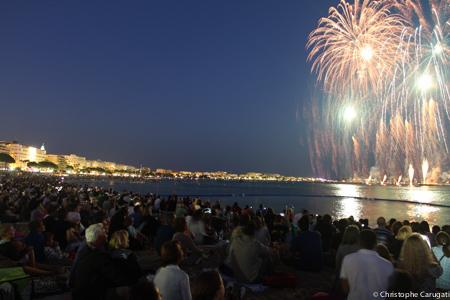 Feu d'artifice du 14 juillet dernier à Cannes