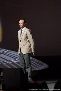 Chris Froome lors de la présentation du Tour 2014