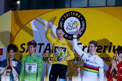 Le podium du 1er Saitama Criterium by Le Tour  de France  ©Aso
