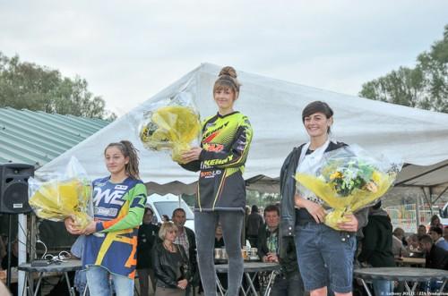 le podium du championnat de France catégorie 125cc :  1ère : Mathilde DENIS  2ème : Andréa BRUNO  3ème : Mathilde MARTINEZ