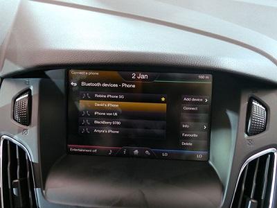 Un ecran tactile avec SYNC 2