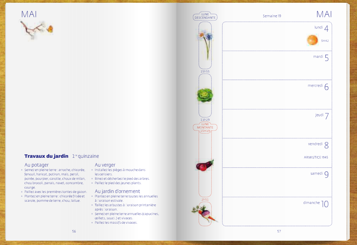 Nouveau l 39 agenda du jardinier bio 2015 et son - Jardin biodynamique calendrier lunaire ...