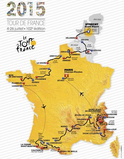 Le parcours du Tour 2015