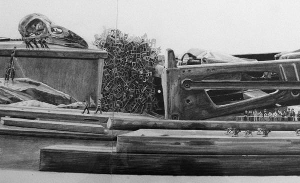 Jessie Brennan, The Cut (détail), 2011, crayon sur papier, 29,7 x 504 cm. Photo Marika Prévosto