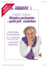 Frédéric Zeitoun au Petit Hébertot