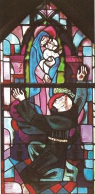 vitrail couvent Paris Bx Duns Scot