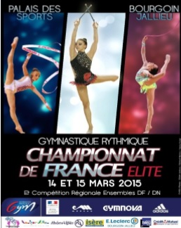 Championnat de France elite gym Bourgoin-Jallieu