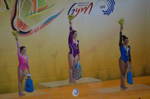 Podium finale concours général championnat europe 2015 Montpellier
