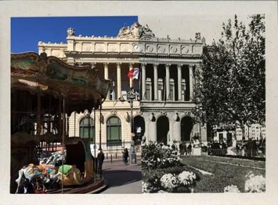 printemps art carte postale