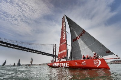 June 7, 2015. Start of Leg 8 from Lisbon to Lorient. MAPFRE
