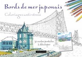 carnet-coloriage-anti-stress-bords-mer-japonnais-cartes-postales-larousse