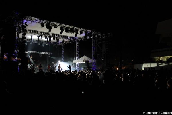 Le groupe Français La Femme l'an dernier sur la scène du Festival Pantiero