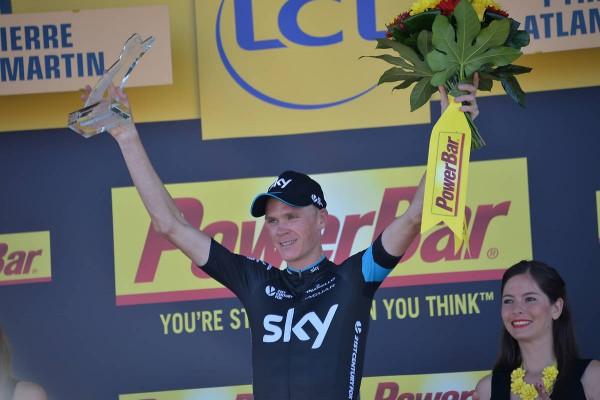 Christopher Froome vainqueur de la 11ème étape à la Pierre Saint Martin (Crédit : ASO/B.Bade)