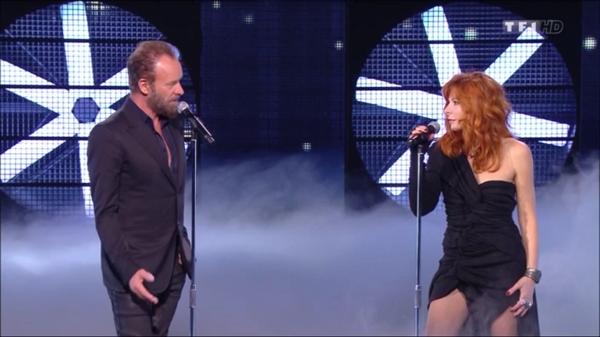 NRJ Music Award Sting et Mylène Farmer sur scène