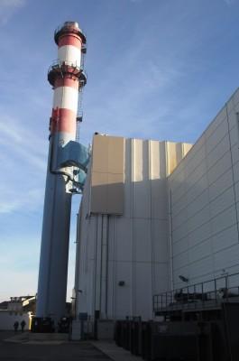 chaufferie biomasse de Stains cheminée