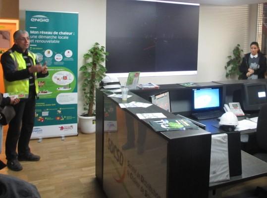 chaufferie biomasse de Stains salle de commande