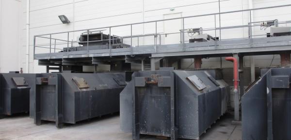 chaufferie biomasse de Stains cuves de cendres