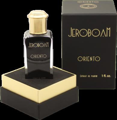 Parfum Oriento de Jeroboam. Dans la même collection, il existe aussi Origino, Miksado, Hauto et Insulo