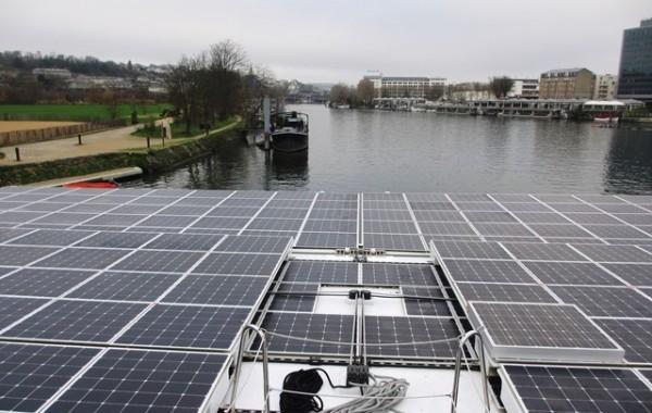 Navire solaire : pont supérieur