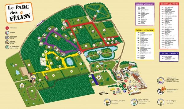 Plan du Parc des Félins