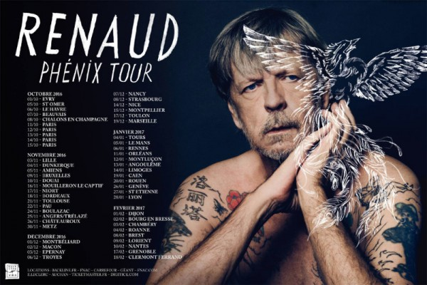 Date tournee Renaud France