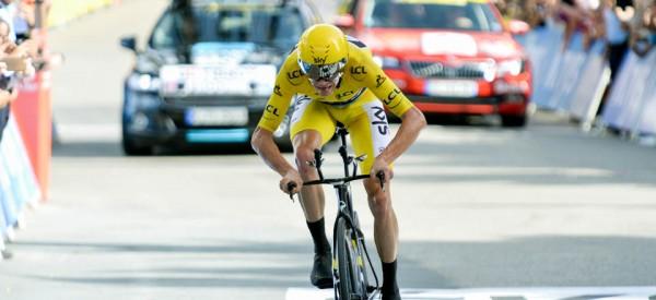 Christopher Froome renforce son maillot en remportant le chrono de Megève